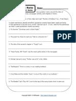 quotation mark worksheet 2