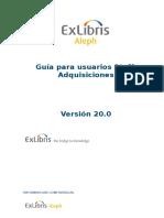ALEPH 20 Guía Del Usuario - Adquisiciones