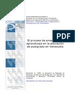 El proceso de enseñanza – aprendizaje en la educación de postgrado en Venezuela