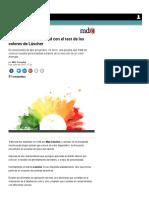 Conocé Tu Personalidad Con El Test de Los Colores de Lüscher - MDZ Online