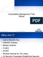 Vulnerability Management That Works