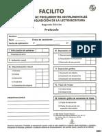 PROTOCOLO Evaluacion de Precurrentes Instrumentales Para La Adquisicion de La Lectoescritura FACILITO