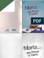 Livro Maria Em Prosa e Verso