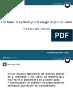 Factores a Evaluar Para Elegir Un Panel Solar
