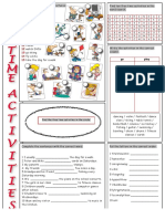 D Vocabulary Free Time Activities