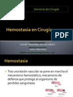 Hemostasia en Cirugía. Amhed