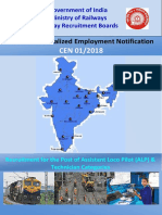 Railways ALP 2018 Official Recruitment Notification