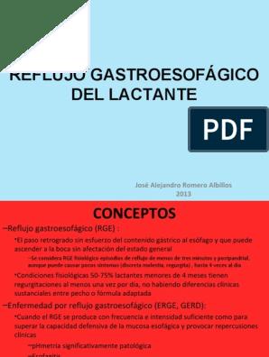Enfermedad por reflujo gastroesofagico en lactantes pdf