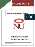 Internship Handbook CBNK BoM