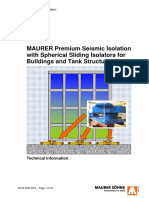 MAURER Premium Seismic Isolation With Spherical Sliding Isolators for Buildings and Tank Structures