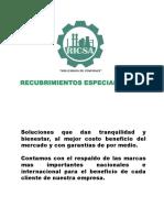 Presentacion de RICSA Recubrimientos Especializados.