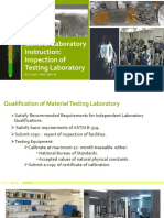 Inspection of Testing Laboratory