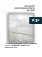 Draft Industry Recommendations to Improve Oil Spill Preparedness and Response