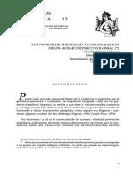 Los Pewenches. Identidad y Configuracion. Silva y Tellez