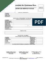 Aca009 Fo001 Registro de Servicio Social Temp