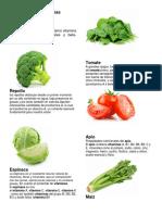 Verduras y Sus Vitaminas
