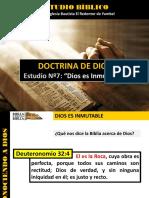 Discipulado Nº 7 Dios Es Inmutable