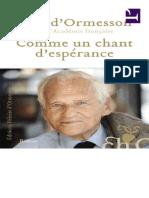 251341700 Comme Un Chant D Esperance Jean d Ormesson PDF