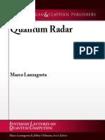 (Synthesis Lectures on Quantum Computing) Marco Lanzagorta-Quantum Radar -MC (2012)