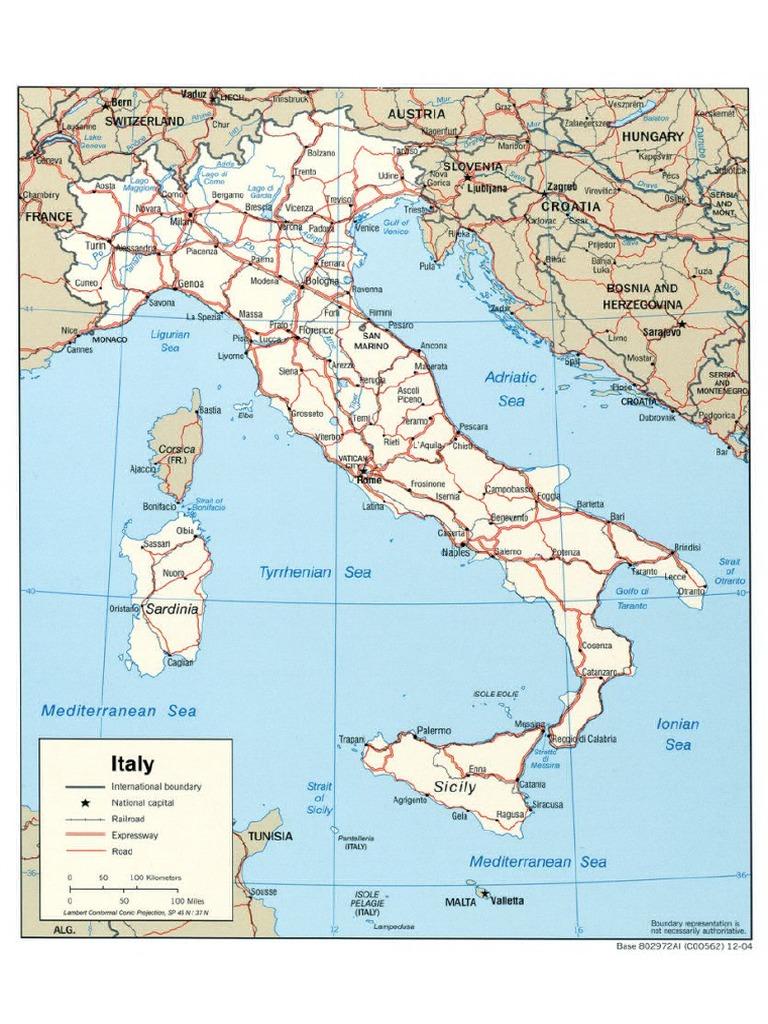 Mapa Carreteras Italia Pdf
