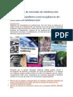 GIS and BEER Recopilatorio de Tutoriales de TeledetecciónCOP
