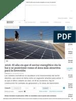 2016_ El Año en Que El Sector Energético Vio La Luz y Se Posicionó