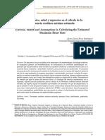 1. Artículo_cálculos y Uso de La Frecuencia Cardiaca. Alixon Piña
