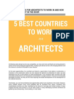 5 Best Countries for Architects to Work in and How to Get Your Foot in the Door