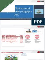Asistencia Técnica Para El Acompañamiento Pedagógico 2017 - JEC