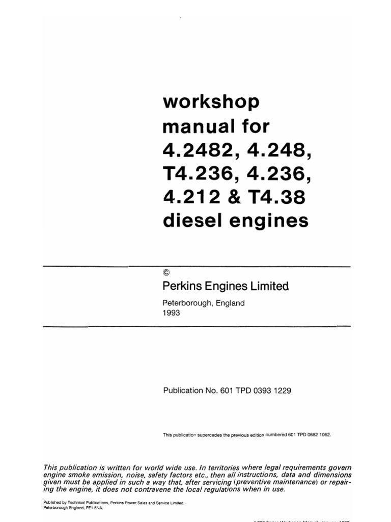 Workshop manual perkins 4 236.