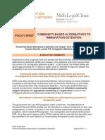 Community-Based Alternatives to Immigration Detention