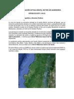 Informe de Situación Actual Manta, AASS y AAPP