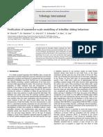 Modelling of Tribofilm Sliding Behaviour