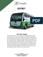 Solar Jeepney Prs