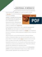 DEFINICIÓN DESISTEMA JURÍDICO