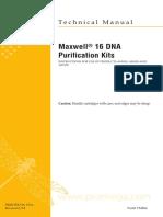 Maxwell 16 DNA Purification Kits Protocol