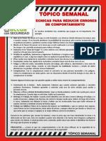N° 31 - TÉCNICAS PARA REDUCIR ERRORES DE COMPORTAMIENTO