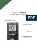 Bourdieu, Razones Prácticas_Sobre La Teoría de La Acción