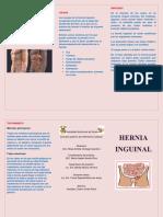 Triptico Hernia Inguinal