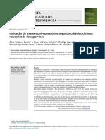 Indica ̧cão de exames pré-operatórios segundo critérios clínicos- necessidade de supervisão
