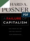 POSNER, Richard. a Failure of Capitalism