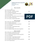 00 Course Schedule_STATA Short Course 2016