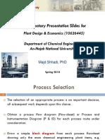 Plant Design_Process Selection