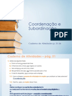 Coordenacao e Subordinacao - exercicios projetaveis