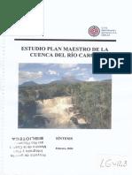 Estudio Plan Maestro Cuenca Del Caroni