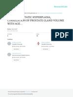 Benign Prostatic Hyperplasia Correlation of Prosta(2)