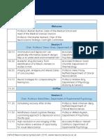 Neuroscience Symposium 2016 Programme