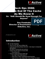 Black Ops 2008 - It's the End of the Cache as We Know It