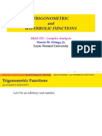 7. Trigonmetric and Hyperbolic Functions