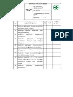 7.3.2.2 Daftar Tilik Sterilisasi Alat